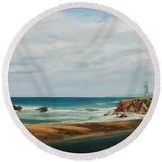 The Light House Round Beach Towel