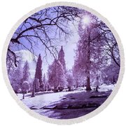 The Light Of River View Round Beach Towel