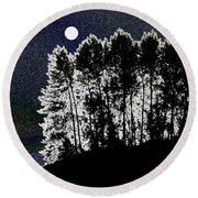 The Light Of The Moon Round Beach Towel