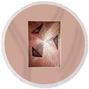 The Light Of The Peace Round Beach Towel