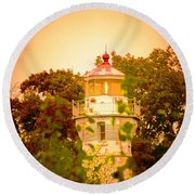 The Light Tower Round Beach Towel