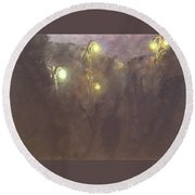 The Light Tree Series Into The Void II Round Beach Towel