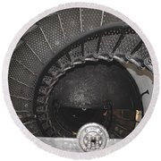 The Lighthouse Stairs Round Beach Towel