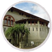 The Lightner Museum Round Beach Towel