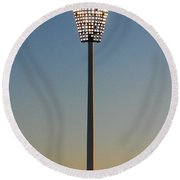 The Lights Come On At The Gabba Round Beach Towel