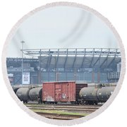 The Linc From The Other Side Of The Tracks Round Beach Towel