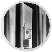 The Lincoln Memorial Round Beach Towel by War Is Hell Store