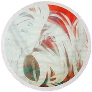 The Lion And The Swan  Round Beach Towel