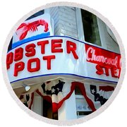 The Lobster Pot #1 Round Beach Towel