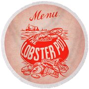 The Lobster Pot 1960s Round Beach Towel