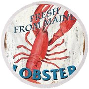 The Lobster Pot Round Beach Towel
