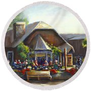 The Local Grill And Scoop Round Beach Towel