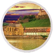 The Lock On The Hill Round Beach Towel