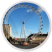 The London Eye 2 Round Beach Towel
