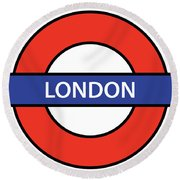 The London Underground Round Beach Towel