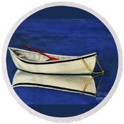 The Lone Boat Round Beach Towel