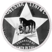 The Lonestar Liniment Round Beach Towel