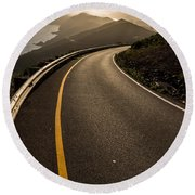 The Long And Winding Road Round Beach Towel
