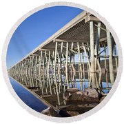 The Long Bridge Round Beach Towel