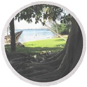 The Long Dock Round Beach Towel