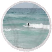The Long Summer Round Beach Towel