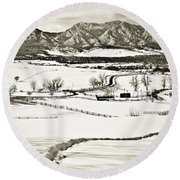 The Long View Round Beach Towel