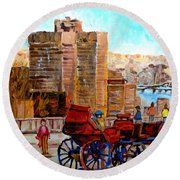 The Lookout On Mount Royal Montreal Round Beach Towel