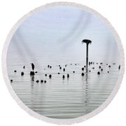 The Loon Guard Round Beach Towel