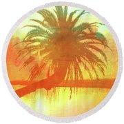 The Loop Palm Textured Round Beach Towel