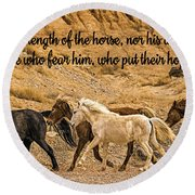 The Lord's Delight Round Beach Towel