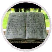 The Lord's Prayer Round Beach Towel