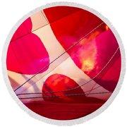 Hearts A' Fire - The Love Hot Air Balloon Round Beach Towel