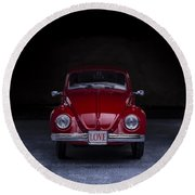 The Love Bug Square Round Beach Towel