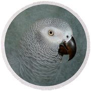 The Love Of A Gray Round Beach Towel