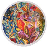 The Love Story II Round Beach Towel