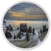 The Lowcountry - Botany Bay Plantation Round Beach Towel