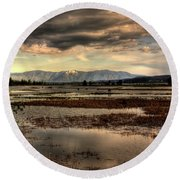 The Lower Pack River Idaho Round Beach Towel