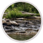 The Lower Yough River Round Beach Towel