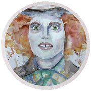 The Mad Hatter Round Beach Towel