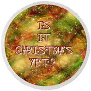 The Madness Of Christmas Card Round Beach Towel