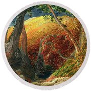 The Magic Apple Tree Round Beach Towel by Samuel Palmer