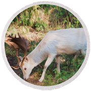 The Magical Deer Round Beach Towel