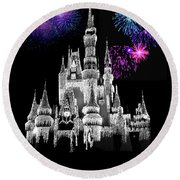 The Magical Kingdom Castle Round Beach Towel