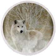 The Magical Wolf Round Beach Towel