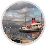 The Maid Of The Loch Round Beach Towel