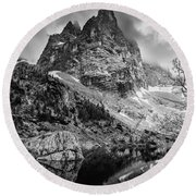 The Majesty Of Mountains Round Beach Towel