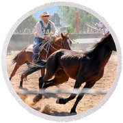The Man From Snowy River Winner Round Beach Towel