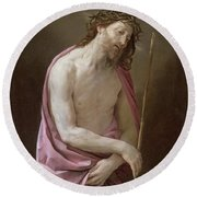 The Man Of Sorrows Round Beach Towel