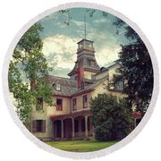 The Mansion Round Beach Towel