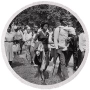 The March On Washington  Freedom Walkers Round Beach Towel
